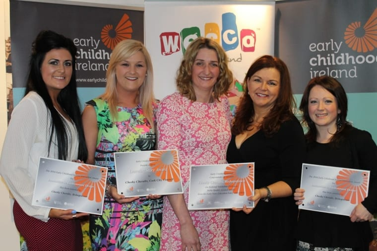Anne-Marie Murray (Manager, Cheeky Cherubs), Sara O'Donnell (Area Training Manager, Cheeky Cherubs), Sarah O'Leary (Co-Director, Cheeky Cherubs), Michele Akerlind (Co-Director, Cheeky Cherubs) and Janine Urquhart (Manager, Cheeky Cherubs).